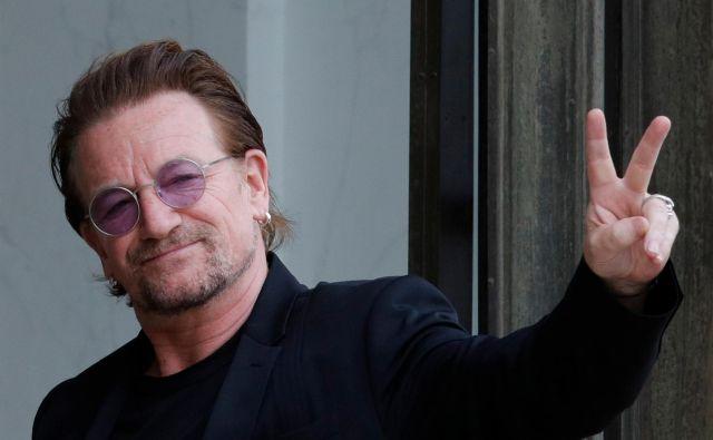 Kaj je hotel sporočiti Bono? Da si bodo pri U2 vzeli samo premor, ali pa skupina resnično ne bo več ustvarjala? FOTO: Reuters