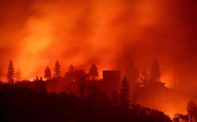 Požar blizu Big Benda v Californiji izgleda zastrašujoče. Foto Robyn Beck Afp