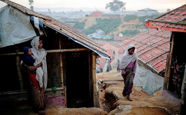 Lanskoletno preganjanje Rohingov v zvezni državi Rakhajn na zahodu Burme so Združeni narodi označili za etnično čiščenje. FOTO: Mohammad Ponir Hossain/Reuters