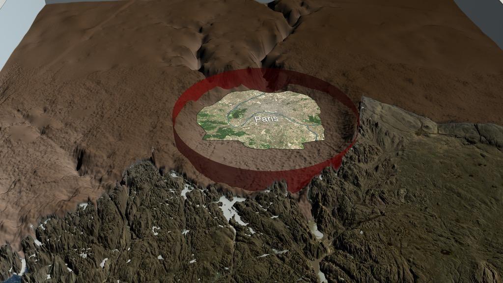 FOTO:Pod grenlandskim ledom se je skrival ogromen krater (VIDEO)