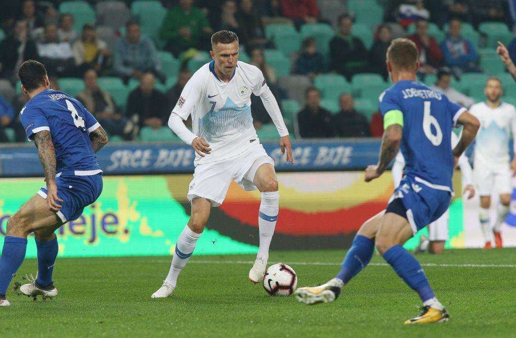 FOTO:Novi kapetan Josip Iličić zadnji up za častno slovo Slovencev