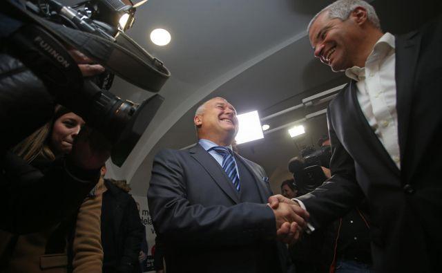Lokalne volitve v Mariboru: Franc Kangler in Saša Arsenovič FOTO: Tadej Regent/Delo