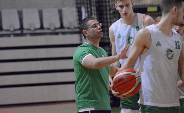 Aleksandar Nikitović je včeraj že vodil stožiško moštvo na treningu. FOTO: Petrol Olimpija