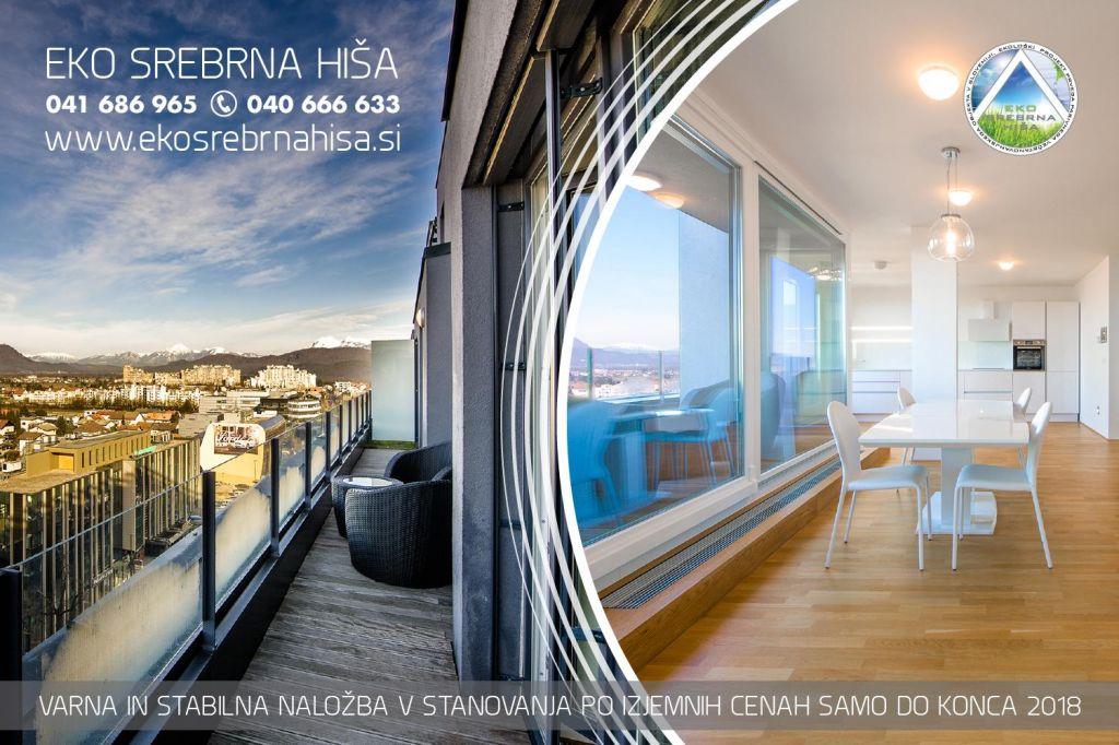 Izjemna priložnost za nakup stanovanj v Eko srebrni hiši samo do konca leta 2018