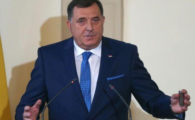 Milorad Dodik je Republiko Srbsko imenoval država, ki ji manjka le še mednarodno priznanje. FOTO: Dado Ruvić/Reuters
