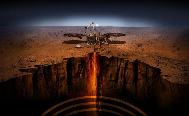 Insight lander bo na Marsu pristal v ponedeljek. Če bo. Marsikaj gre lahko narobe. Foto Nasa