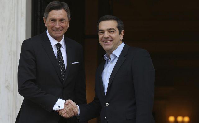 Predsednik države Borut Pahor na obisku v Grčiji pri Aleksisu Ciprasu FOTO: AP