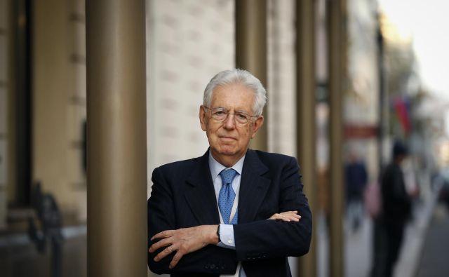 Lepota Evrope se po mnenju Maria Montija skriva v enakopravnosti malih in velikih držav. FOTO: Matej Družnik / Delo