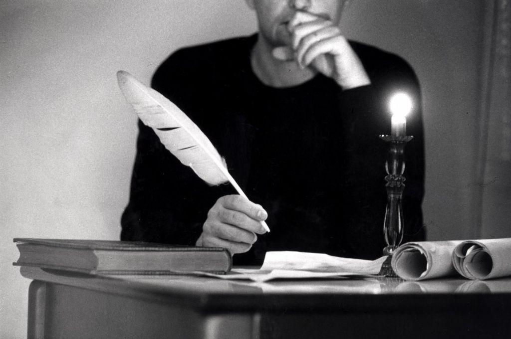 Podpis moža s posušeno roko