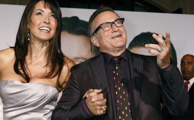Pokojni Robin Williams z ženo Susan Schneider FOTO: Reuters