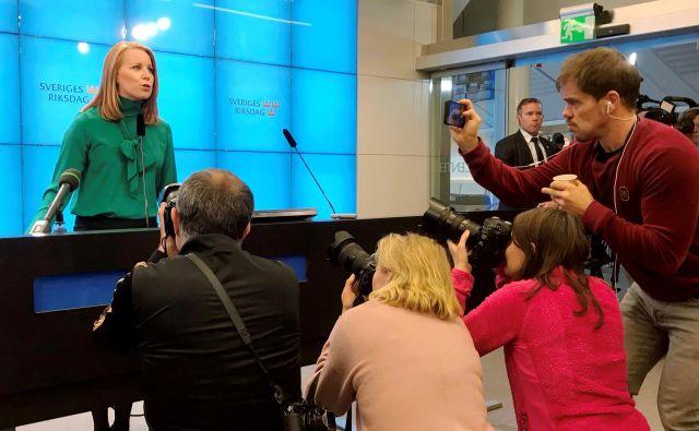 Vodja Sredinske stranke Annie Lööf. FOTO: Daniel Dickson/Reuters