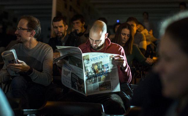 Na konferenci so udeleženci kot problem poudarili tudi, da v Sloveniji še nimamo zakona o medijih, ki bi ustrezal izzivom sodobnega časa, definicija medija pa je zastarela. Foto Voranc Vogel/Delo
