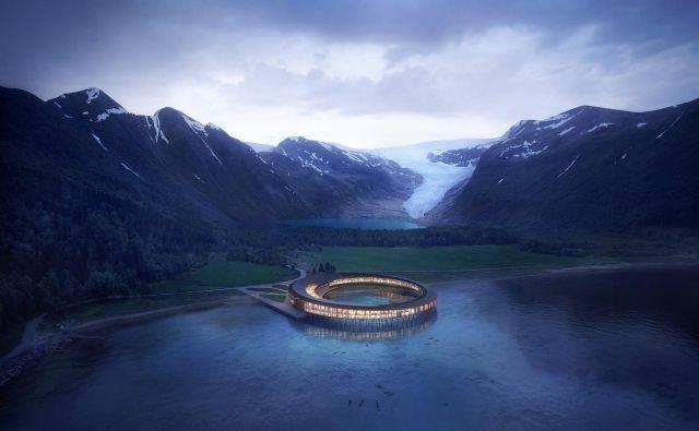 Hotel naj bi bil namenjen tistim, ki želijo občudovati naravo in se stopiti z njo. Foto: arhitekturni biro Snøhetta