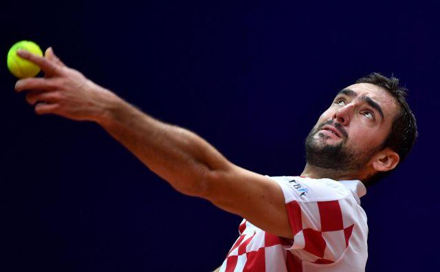 Marin Ćilić ni nekoliko poškodovanemu tekmecu oddal niti niza. FOTO: Philippe Huguen/AFP