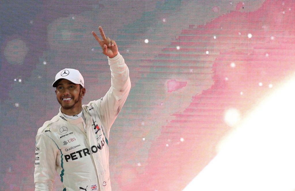 Za konec izjemne Hamiltonove sezone še slavje v Yas Marini