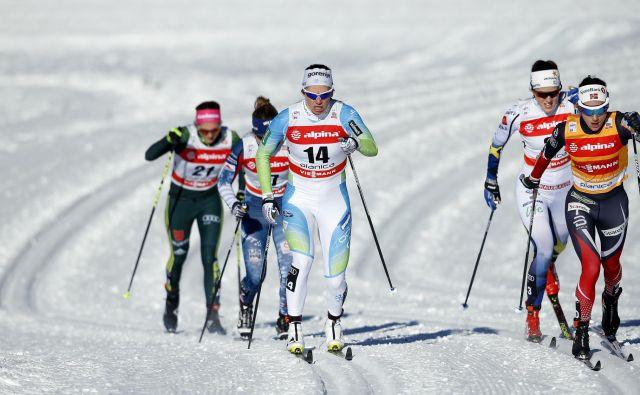 Katja Višnar je izpadla v polfinalu. FOTO: Matej Družnik/Delo