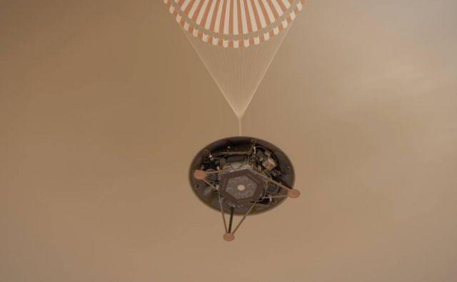 Insight je pred najtežjimi minutami v misiji. FOTO: NASA/JPL-Caltech