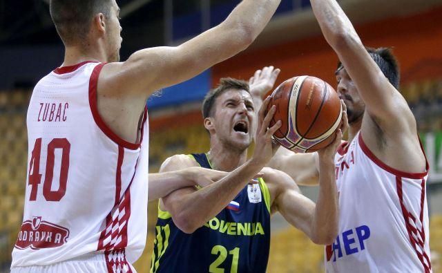 Blaž Mahkovic je v majici s slovenskim grbom doslej zbral štiri uradne nastope. FOTO: Roman Šipić/Delo