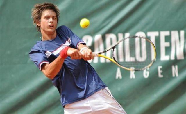 Slovenski Argentinec Tomas Lipovšek Puches je pripravljen igrati za domovino svojih prednikov. FOTO: Tennis