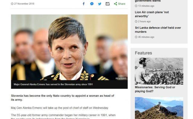 Alenka Ermenc v tujih medijih. FOTO: BBC