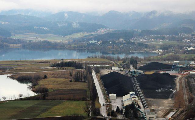 Deponija premoga Premogovnika Velenje za Termoelektrarno Šoštanj. FOTO: Brane Piano