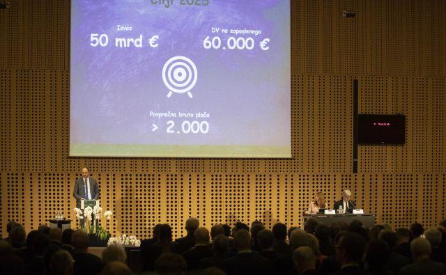 Več kot 350 gospodarstvenikov je včeraj na vrhu gospodarstva pripravilo več ukrepov, ki naj bi Slovenijo dvignili na lestvicah konkurenčnosti. FOTO: Voranc Vogel