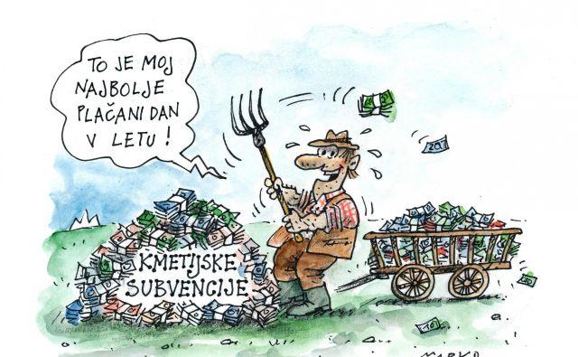 Sedanji subvencijski sistem verjetno ne bo večen. KARIKATURA: Marko Kočevar