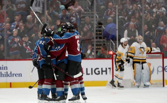 Hokejisti Colorada so v zadnjih tednih težko premagljivi. FOTO: Matthew Stockman/AFP