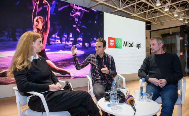 Nekdanji športniki Špela Pretnar, Ivo Jan in Jernej Damjan so govorili o izzivih profesionalnega športnika in o življenju po končani karieri. FOTO STA