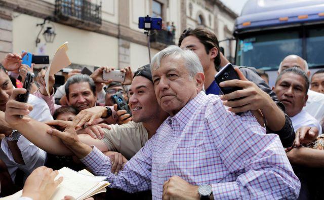 Priljubljenega novega mehiškega predsednika Andrésa Manuela Lópeza Obradorja številni ozačujejo za populista. FOTO: Reuters