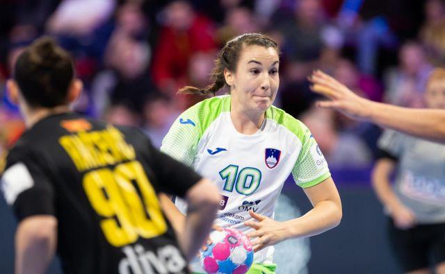 Tjaša Stanko je dosegla 100. gol za Slovenijo. FOTO: Jure Eržen