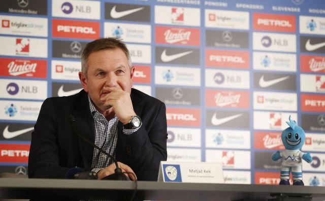 Selektor Matjaž Kek je napovedal zanimive kvalifikacije za evropsko prvenstvo leta 2020. FOTO: Leon Vidic