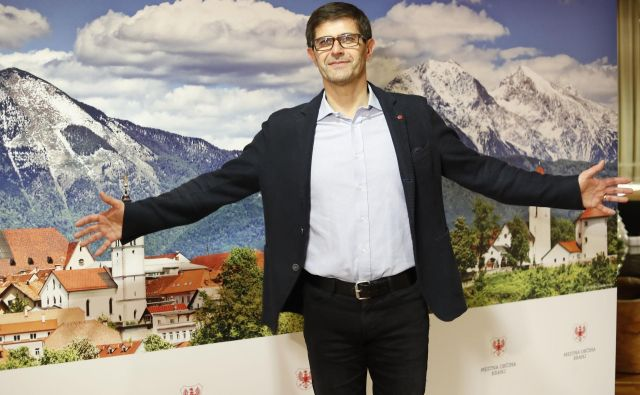 Matjaž Rakovec, zmagovalev županjskih volitev v Kranju. FOTO: Leon Vidic/Delo