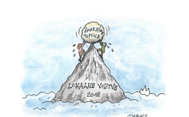 Šmarješke Toplice in Koper sta stvarna dokaza, da vsak glas šteje. KARIKATURA: Marko Kočevar