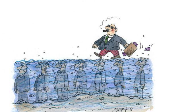 Čas za okulista? Karikatura: Marko Kočevar