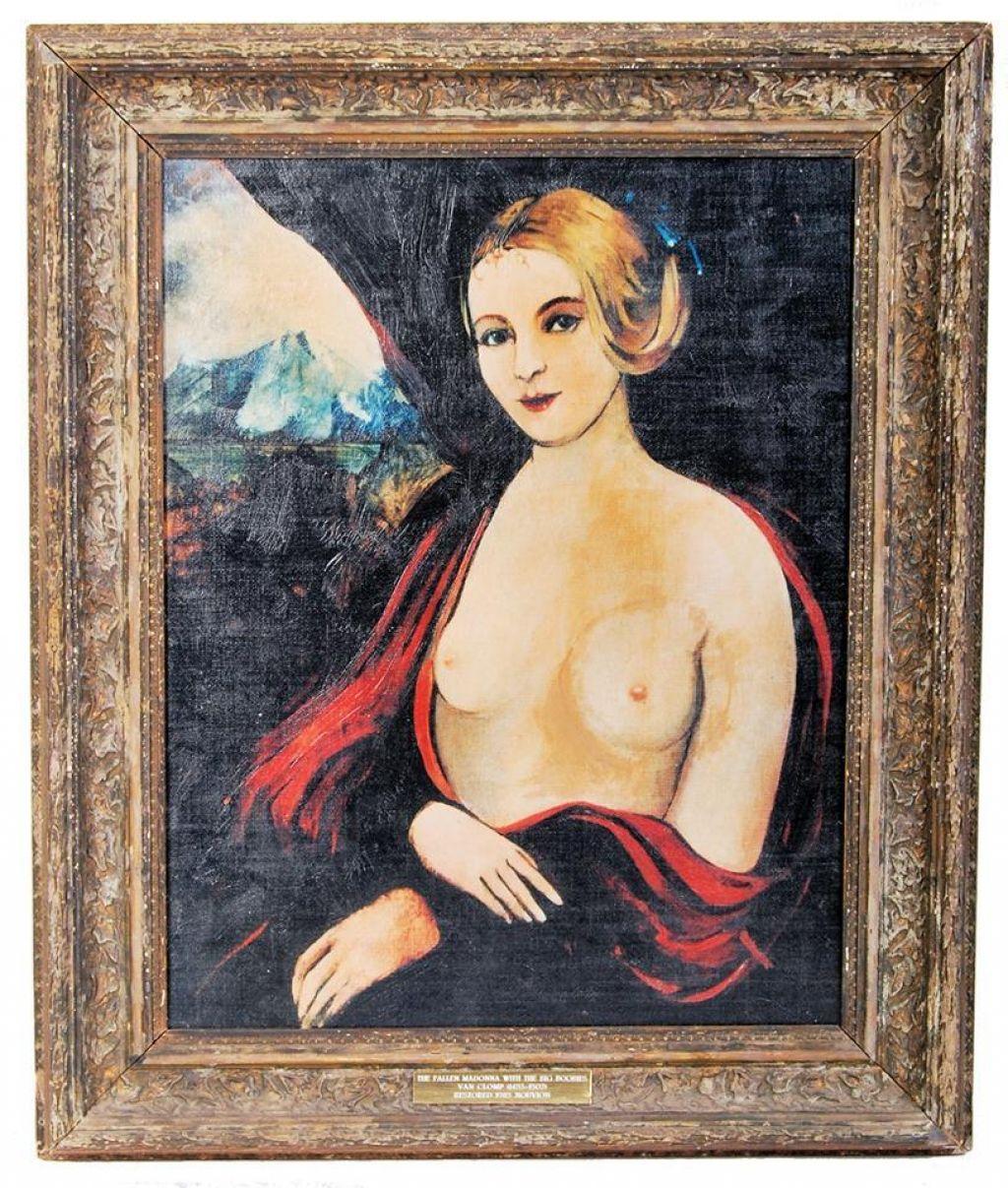 Sliko Padle Madone iz nadaljevanke Alo Alo prodali za 15 tisoč funtov