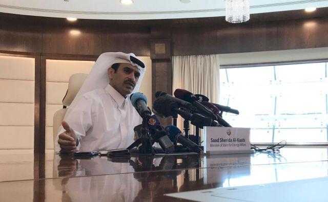 Katarski minister za energijo Saad al Kabi FOTO: AFP