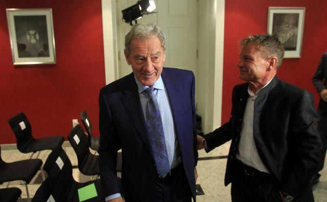Milan Mandarić (levo) bo imel v hišnem odvetniku bivšega župana in nekoč tudi svojemu tesnemu sodelavcu Franciju Matozu nadležnega tekmeca. FOTO: Blaž Samec/Delo