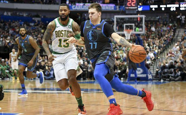 19-letni Ljubljančan igra za moštvo Dallas Mavericks. V povprečju je na parketu prebil 33,2 minute in dosegel 18,5 točke. FOTO: Alkis Konstantinidis/Reuters