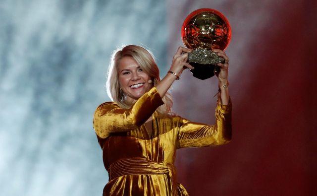 Najboljša nogometašica minule sezone je postala Ada Hegerberg. FOTO: Reuters