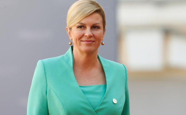 Spletkarjenje najožjih sodelavcev hrvaške predsednice Kolinde Grabar Kitarović ji je tokrat škodilo. FOTO: Reuters