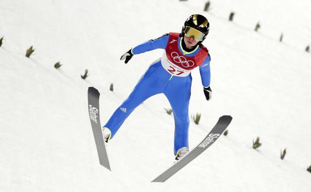 Ema Klinec je dobila potrditev, da je z vrhunskimi skoki konkurenčna najboljšim.FOTO: Matej Družnik/Delo