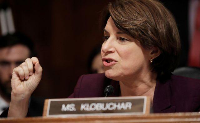 Amy Klobuchar se še ni povsem odločila. FOTO: Reuters