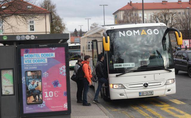 Frekventno postajališče Ljubljana Tobačna FOTO Mavric Pivk/Delo