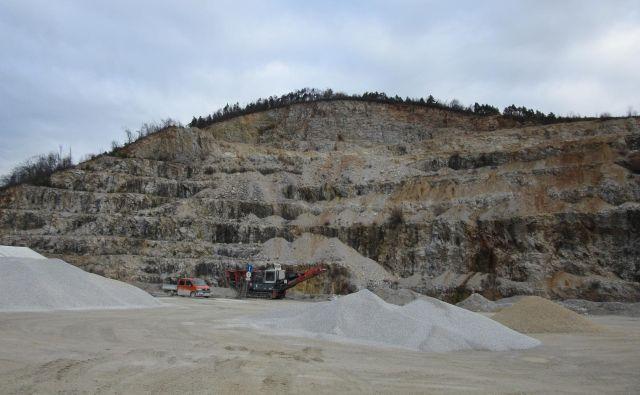 Materiala v kamnolomu naj bi bilo še za 50 let. FOTO: Špela Kuralt