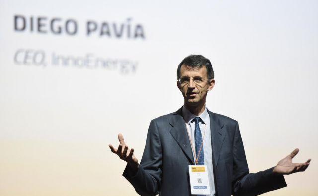 Diego Pavía, Španec na čelu evropskega energetskega pospeševalnika InnoEnergy, govori in deluje izjemno hitro. Tudi mora, če želi obvladovati portfelj več kot dvesto zanimivih startupov, ki rastejo v ekosistemu InnoEnergyja. FOTO: Innoenergy