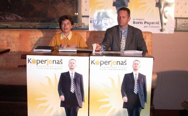 Boris Popovič na začetku svoje šestnajstletne županske kariere. Foto Dušan Grča