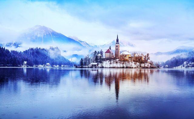 Blejsko jezero v zimski različici FOTO: Shutterstock