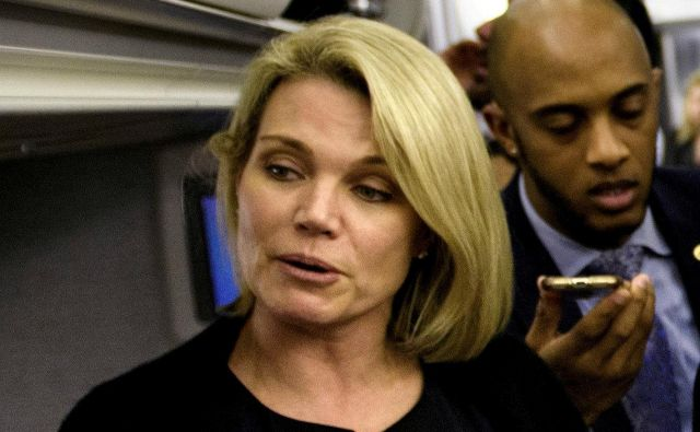 Tiskovna predstavnica zunanjega ministrstva Heather Nauert naj bi postala nova ameriška veleposlanica pri Združenih narodih. FOTO Reuters