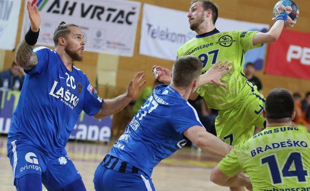 Levoroki Srb Milan Marinović, edini tujec pri Loki, je Celjanom zabil štiri gole. FOTO: Tomi Lombar